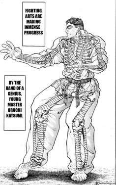 Baki: Son of Ogre (I love this manga and the way the artists Keisuke Itagaki draw fighters)
