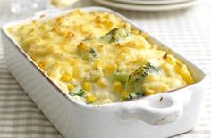 Hearty macaroni cheese. EP made this, very easy and tasty.