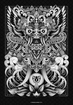 Barong Bali Art Print by godzillarge Barong Bali, Tattoo Drawings, Art Drawings, Cambodian Art, Dragons, Indonesian Art, Japanese Tattoo Art, Thai Art, Japanese Characters