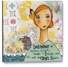 Kelly Rae Roberts Collection Wall Art Believer In Healing 102296(12 square) - eBay $27