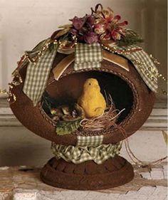 DA9022 Bethany Lowe Spring Tidings Egg Vignette Easter Decoration Chick in Nest  | eBay