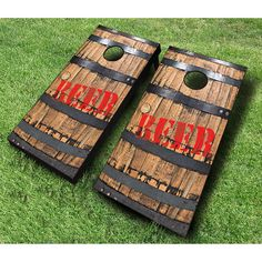 Products AJJ Cornhole Beer Barrell Cornhole Set Red & Navy Easy Cleaning With A Roomba Robotic Floor Cornhole Board Decals, Custom Cornhole Boards, Cornhole Set, Diy Wood Projects, Wood Crafts, Cornhole Designs, Backyard Games, Outdoor Games, Corn Hole Game