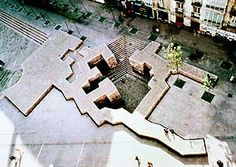 "Eduardo Chillida ""The Basque Liberties Plaza"", Reinforced concrete and… Historical Architecture, Architecture Details, Landscape Architecture, Architecture Diagrams, Architecture Portfolio, Landscape Model, Urban Landscape, Landscape Design, Urban Ideas"