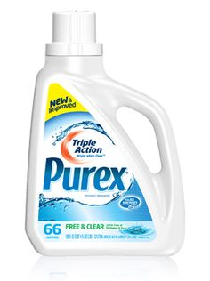 *DISCONTINUED PRODUCT* Purex Triple Action liquid detergent - Free  Clear: Tough on dirt. Gentle on your skin.