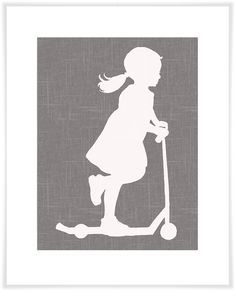 Scooter Girl, Personalized Art Prints | Oopsy daisy