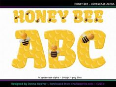 cu4cu HONEY BEE Uppercase Alpha by Donna Weaver Bzzzzz! I must admit, I LOVE this ?sweet? new alpha! LOVE the colour, LOVE the honeycomb pattern and super-duper LOVE the cute lil bees! The perfect alpha to sweeten any project. Click my name to see more of my products, including corresponding alphas that match this one. Thanks for looking :)