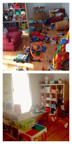 Before & After - Play room