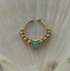 fake septum Septum ring faux, fake septum ring,Fake septum, fake septum ring,fake nose ring, indian septum, tribal septum,fake earring, by seajewelry2015 on Etsy