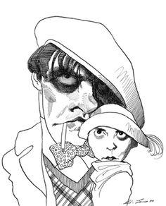Vladimir Mayakovsky and Lili Brik Guy Drawing, Painting & Drawing, Caricatures, Vladimir Mayakovsky, The Master And Margarita, Levine, Russian Literature, Portraits, Russian Art
