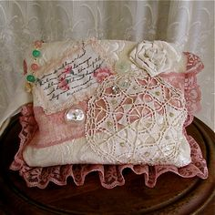 Romantic Victorian Clutch handmade handheld by TatteredDelicates