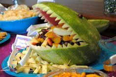 Under the Sea Birthday Party   Little Mermaid Birthday Party   Girl's Birthday Ideas   Shark Shaped Watermelon
