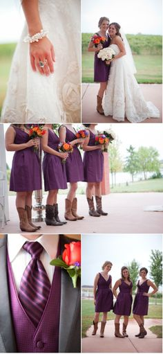 Love the cowgirl boots on the bridesmaids on SMP