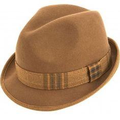 423d8a3f96f Men s Stingy Brim Felt Fedora Hat By Montique