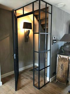 Hoogehuys Steel Doors And Windows, Welding Design, Welding And Fabrication, Building Renovation, Wood Steel, Amazing Spaces, Folding Doors, Industrial House, Metal Furniture