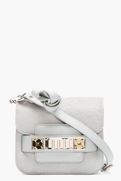 Proenza Schouler Grey Calf_hair And Leather Tiny Ps11 Shoulder Bag