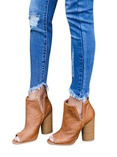 FISACE Women's Cowboy Chunky Heel Peep Toe Ankle Booties ... https://www.amazon.com/dp/B06XY44NJN/ref=cm_sw_r_pi_dp_x_uwYIzb4R4T0S7