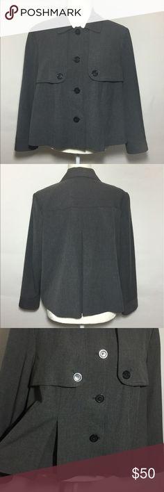Michael Kors Gray Jacket Unique Michael Kors cape-like jacket in gray, size large. Pristine condition. Michael Kors Jackets & Coats