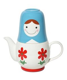 It's a Matroyshka teapot! I love this so much it almost makes me want to give up coffee.