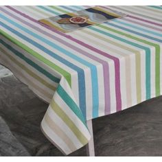 Sparkling stripes woven cotton table cover #tablecovers #tablecoversonline