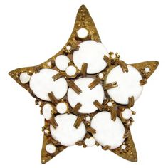 Kenneth Lane Brooch, K.J.L., Large Star, Starfish, Signed, Rare, Collectible, Pin, Early 1960s.