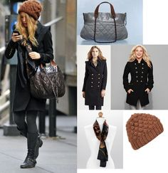 On Serena: Smythe Military Coat, Chanel Fall 2010 Large Tote