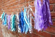 #studiomucci fab fringe garland designs, add shimmer + shine to the backdrop