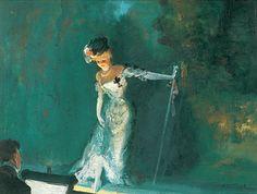 Revue / Everett Shinn / Oil on Canvas, 1908 / The Whitney Museum of American Art