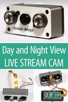 Make a day and night view camera that can live stream easily on any mobile phone or tablet. #broadcast #electronics #technology #3dprint #raspberryzerro #nightview