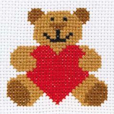 Anchor 1st Kit - Ed - Beginner Cross Stitch Kits - Cross Stitch Kits I Love Cross Stitch