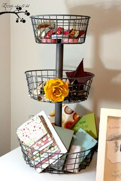 DIY 3 Tiered Basket from Pottery Barn...