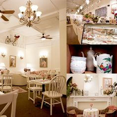 Cute little tea shop :) Small Tea, Coffee Shop Design, Small Cafe, Small Spaces, Shabby Chic, House Design, Cake Shop, Shop Ideas, Dream Tea