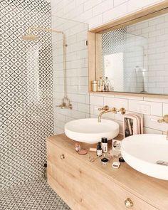 bathroom inspiration modern bathroom style inspiration Tips For Bathroom Design You might be buildin Bad Inspiration, Bathroom Inspiration, Home Decor Inspiration, Decor Ideas, Bathroom Ideas, Bathroom Wall, Washroom, Bathroom Organization, Boho Bathroom