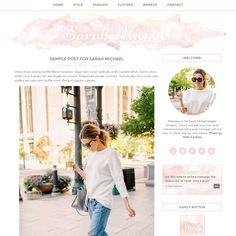 WordPress Theme Sarah Michael Pink by Studio Mommy on Creative Market