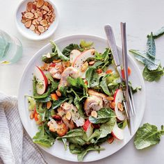 Clean Eating Lunches | Eating clean for lunch becomes easier than ever when you pack these make-ahead meals for the week. The secret to having a healthy, delicious lunch that you can look forward to is planning ahead. With these simple, on-hand ingredients, you'll be surprised at the wide variety of delicious salad options that you can pack for a busy day at work or school. Forget sad sandwiches and soggy salads, because these are lunches that will make all you coworkers or classmates…