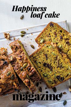With plenty of mood-boosting ingredients, this healthier loaf cake is the perfect way to bring a bit of sunshine to your life. Get the Sainsbury's magazine recipe Clean Eating Recipes, Cooking Recipes, Sainsburys Recipes, Magazine Recipe, Fruit Bread, Blueberry Cheesecake, Loaf Cake, Let Them Eat Cake, Christmas Eve