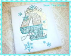 Personalized Ice Queen Birthday Design by SweetPeaStitches84