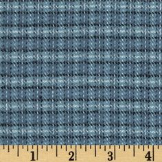 Primo Plaids Flannel Small Plaid Blue from @fabricdotcom  From Marcus Brothers, this double-napped, yarn dyed flannel is perfect for quilting, apparel and home decor accents.  Colors include shades of blue.