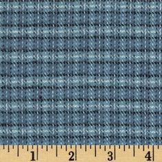 Primo Plaids Flannel Small Plaid Blue