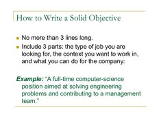 Resume Objective Examples For English Teachers | Best Career Objective  Examples For Your Resume | Pinterest | Resume Objective