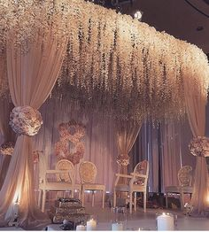 Stunning Mandap Decor Ideas for the Indoor Wedding! : Indoor Mandap Decor Its not easy finding exclusive Mandap Decor Ideas for your Indoor Wedding! We bring you ideas and inspirations to make your dreams come true. Wedding Stage Decorations, Wedding Ceremony Ideas, Romantic Wedding Decor, Marriage Decoration, Wedding Mandap, Wedding Themes, Wedding Events, Indian Wedding Receptions, Mandap Design