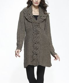 Loving this Taupe Wool-Blend Cardigan on #zulily! #zulilyfinds