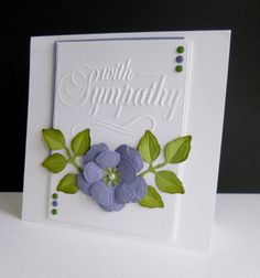 Darice Sympathy by sistersandie - Cards and Paper Crafts at Splitcoaststampers