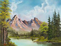 bob ross art gallery | ... > bob ross paintings > bob ross crimson mountains 86005 painting