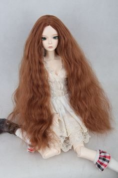 BJD / SD doll wig uncle M / baby girl long curly hair carve volumes of instant noodles 1/3 1/4 1/6 spot - Taobao