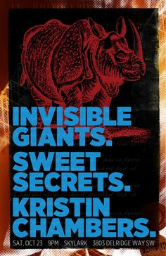 Invisible Giants, Sweet Secrets and Kristin Chambers at the Skylark in West Seattle