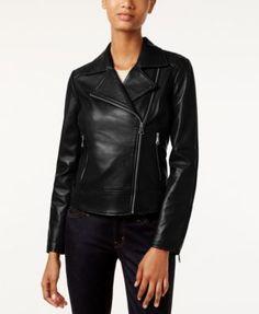 Marc New York Leah Leather Moto Jacket | macys.com