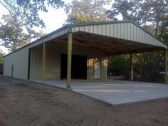 man-cave/garage for DAD - then we can take down the old barn and put an in-ground pool in!