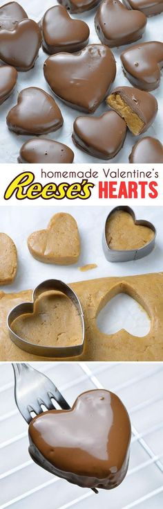 This Reese's Peanut Butter Valentine's Heart recipe is super simple and easy to make. Perfect choice for the Valentine's day. day dinner tasty Chocolate Peanut Butter Valentine's Heart Candy Recipes, Sweet Recipes, Holiday Recipes, Dessert Recipes, Holiday Drinks, Holiday Desserts, Valentine Recipes, Holiday Appetizers, Dessert Bread