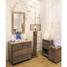 Miroir Vieux Bois Beige Bois de récupération : Jardin d'Ulysse, vente Miroirs Beige Bois de récupération