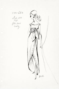 Fashion Sketch by the house of Christian Dior